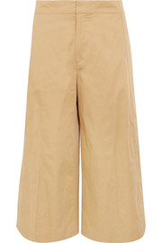 Fitz cropped cotton wide-leg pants