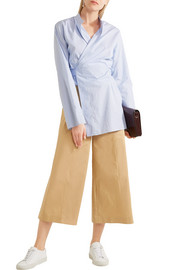 Joseph Fitz cropped cotton wide-leg pants