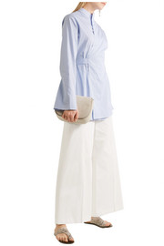 Joseph Brad embroidered cotton wide-leg pants