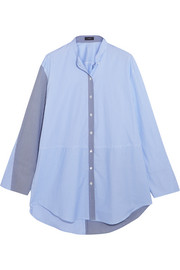 Lenny striped cotton-poplin shirt