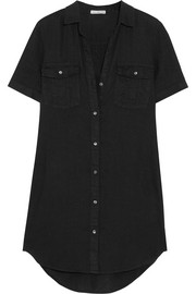 James Perse Utility linen shirt dress
