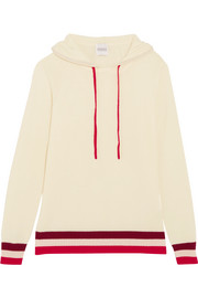 Dalton striped cashmere hooded top