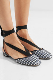 J.Crew Foster sequined gingham canvas ballet flats