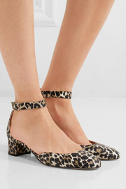 J.Crew Evelyn leopard-print leather pumps