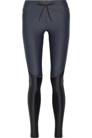 Racing color-block stretch leggings