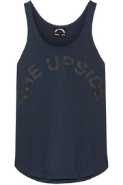 Issy printed cotton-jersey tank