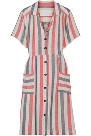 Solid and Striped The Pool striped basketweave cotton-blend dress