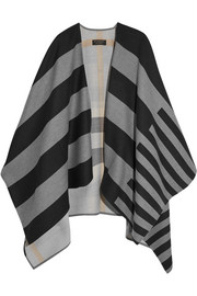 Striped merino wool cape