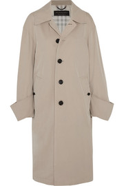 Oversized cotton-twill coat