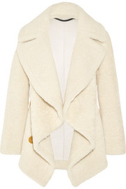 Burberry Cable knit-paneled shearling coat