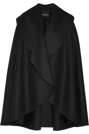 Double-faced wool-felt cape