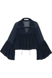 Chloé Ruffled silk-mousseline blouse