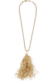 Pop gold-tone tinsel necklace