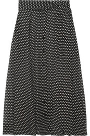 Lisa Marie Fernandez Polka-dot cotton maxi skirt