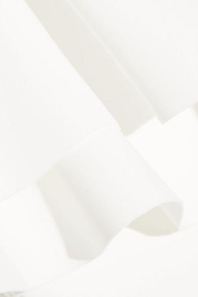 Lisa Marie Fernandez Sabine Double Ruffle bondierter Bandeau-Badeanzug
