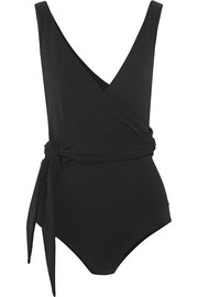 Dree Louise crepe wrap swimsuit