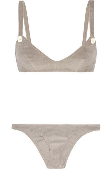 Lisa Marie Fernandez - Button Terry Bikini - Mushroom