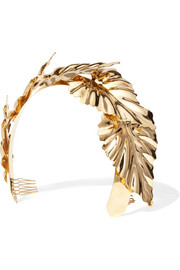 Palm Leaf Halo gold-plated headband