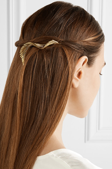 Lelet ny adir abergel gold plated hair slide net a for Adir abergel salon
