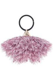 Fluffy tinsel hair tie