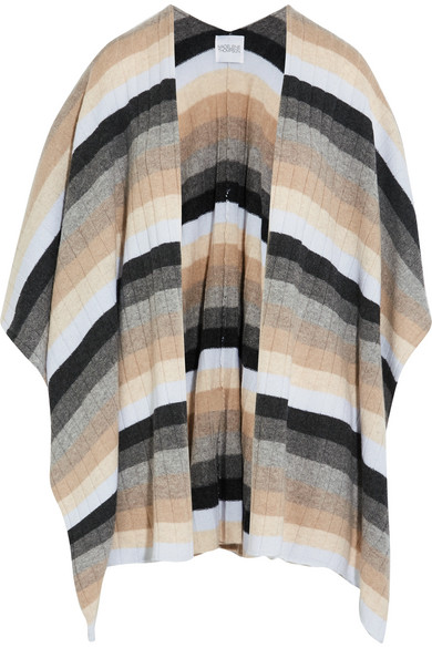 Madeleine Thompson - Ribbed Striped Cashmere Wrap - Neutral