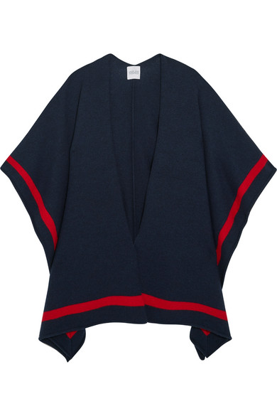 Madeleine Thompson - Aster Striped Cashmere Wrap - Navy