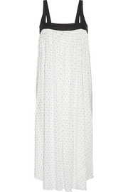 The Bowie poplin-paneled printed stretch-crepe midi dress
