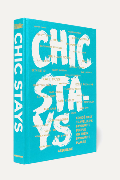 ASSOULINE Chic Stays By Condé Nast Traveler Hardcover Book in Turquoise