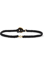 Macramé gold-plated diamond bracelet