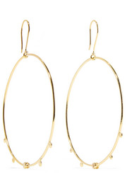 Paradise gold-plated opal hoop earrings