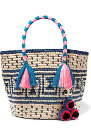 Manya embellished woven toquilla straw tote