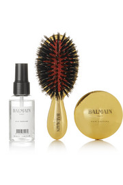 Balmain Paris Hair Couture Gold-plated Spa Brush Set