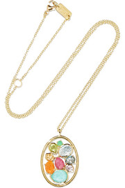 Rock Candy 18-karat gold multi-stone necklace