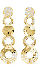 Ippolita Classico Stardust 18-karat gold diamond earrings