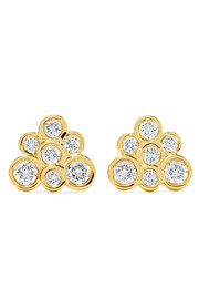 Ippolita Starlet 18-karat gold diamond earrings