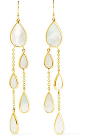 Ippolita Rock Candy 18-karat gold mother-of-pearl earrings