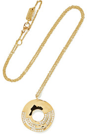 Ippolita Senso 18-karat gold diamond necklace