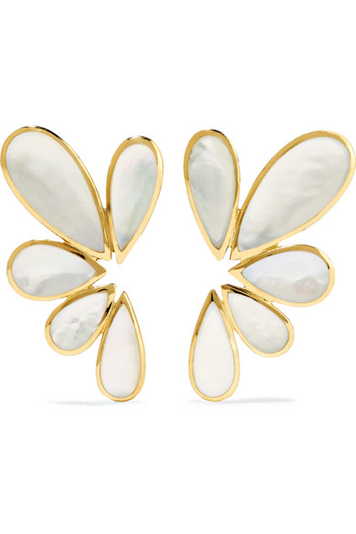 Ippolita - Rock Candy 18-karat Gold Mother-of-pearl Earrings - one size