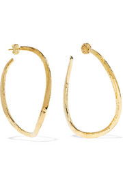 Ippolita Classico hammered 18-karat gold hoop earrings