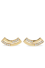 Ippolita Senso 18-karat gold diamond earrings