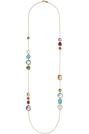 Ippolita Rock Candy Gelato Hero 18-karat gold multi-stone necklace