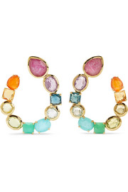 Ippolita Rock Candy 18-karat gold multi-stone earrings