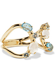 Ippolita Rock Candy 18-karat gold topaz and moonstone ring