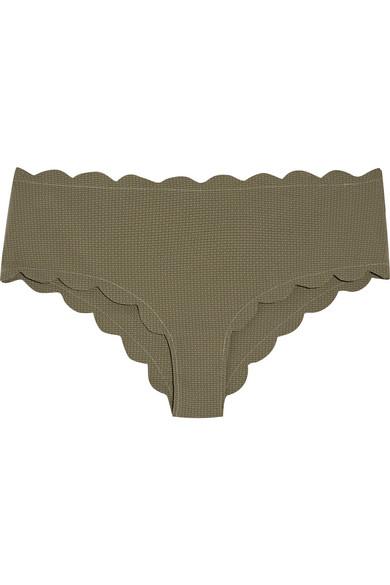 Marysia - Spring Scalloped Bikini Briefs - Army green
