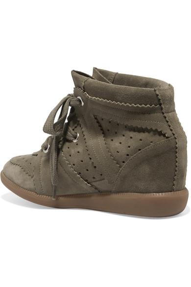 Isabel Marant Étoile Bobby Sneakers aus Veloursleder mit Keilabsatz