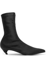 Spandex ankle boots