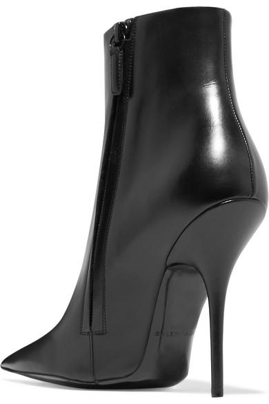 Knife Leather Ankle Boots - Black Balenciaga Cheap Browse nqgYtTu2