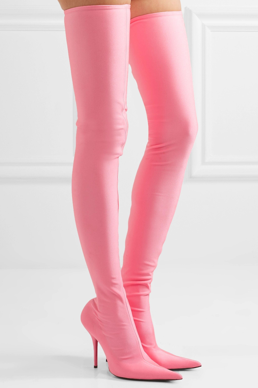 Balenciaga Spandex thigh boots