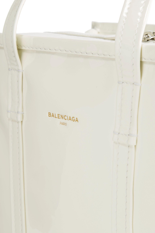 Balenciaga Bazar large patent-leather tote