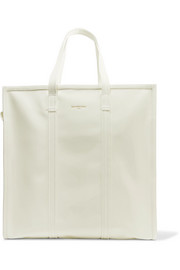 Bazar large patent-leather tote